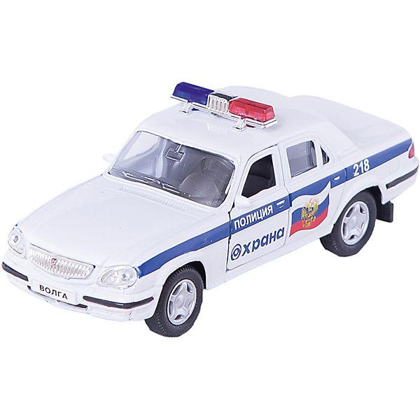"""Машинка """"ГАЗ-31105 """"Волга"""" охрана МВД 1:43, Autotime"""