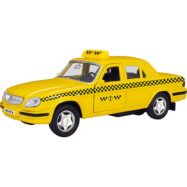 "Машинка ""ГАЗ-31105 ""Волга"" такси 1:43, Autotime"