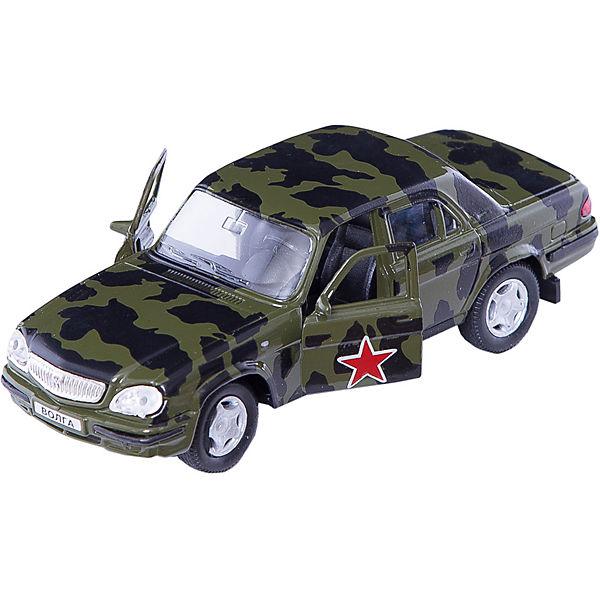 """Машинка """"ГАЗ-31105 """"Волга"""" армейская 1:43, Autotime"""