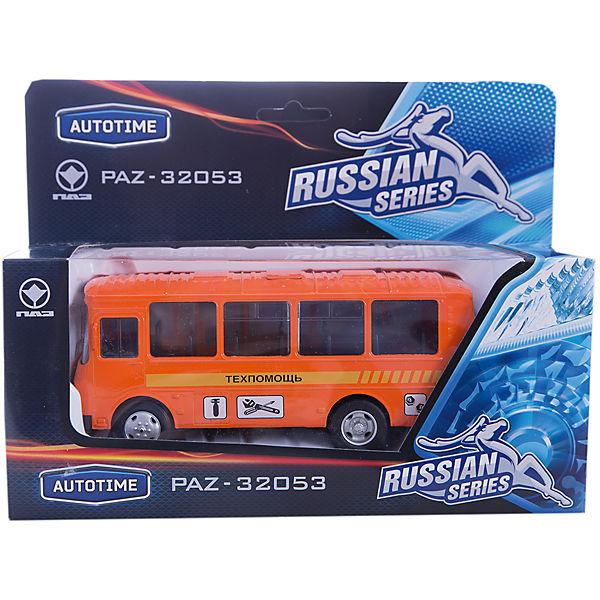"""Машинка """"ПАЗ-32053"""" техпомощь 1:43, Autotime"""