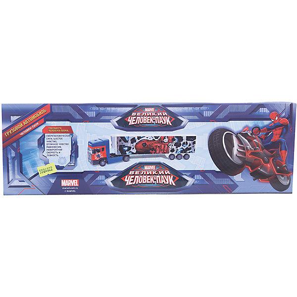 """Машинка """"Spider-Man"""" Мстители тягач с полуприцепом 1:48, Autotime"""