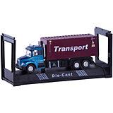 """Машинка """"Transport Truck"""" контейнеровоз 1:48, Autotime"""
