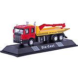 "Машинка ""Flatbed Crane Truck"" с манипулятором 1:48, Autotime"