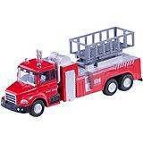 """Машинка """"Lift Fire Truck"""" пожарная, с подъемником 1:48, Autotime"""