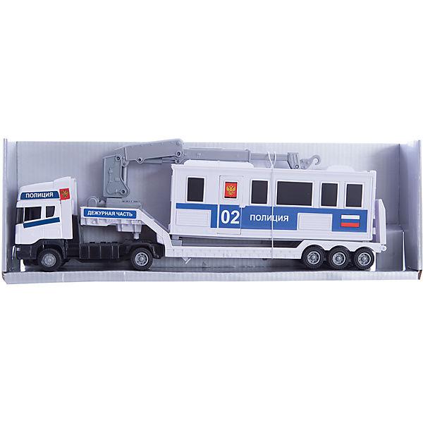 "Машинка ""Scania"" база на платформе, полиция 1:48, Autotime"