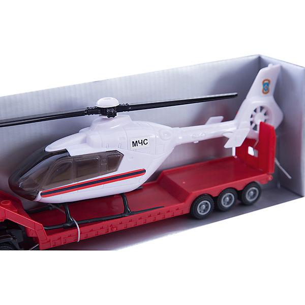 """Машинка """"Scania"""" пожарная с вертолетом 1:48, Autotime"""