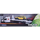 "Машинка ""Recovery Truck Long"" эвакуатор с прицепом полиция 1:48, Autotime"