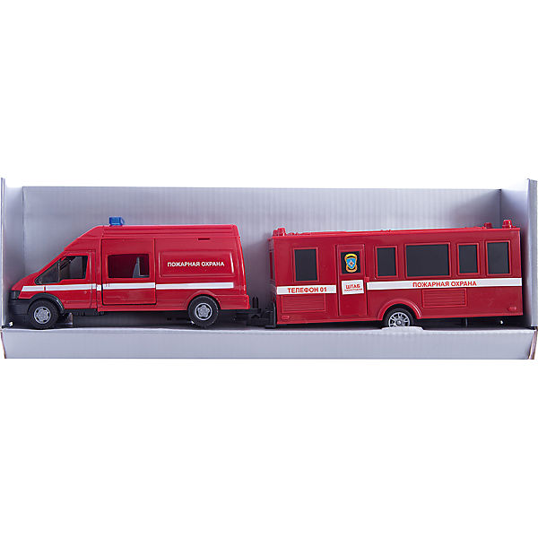 "Машинка ""Rescue Van"" пожарная с прицепом 1:48, Autotime"