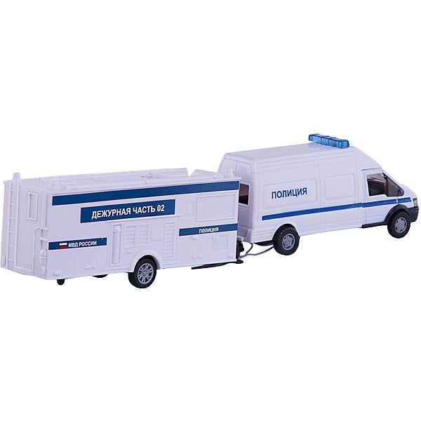 """Машинка """"Rescue Van"""" полиция с прицепом 1:48, Autotime"""