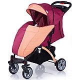 Прогулочная коляска BabyHit Tetra, бордовый/оранжевый