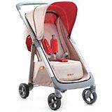Прогулочная коляска Geoby C1020, бежевый/красный