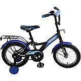 Двухколесный велосипед Basic 14, черно-синий, Navigator