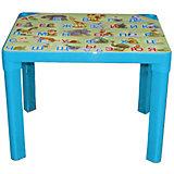 Детский стол Азбука, голубой