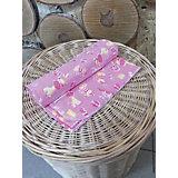 Пеленка трикотажная, 90*120, GulSara, розовый