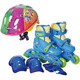 Набор: ролики раздвижные, набор защиты, шлем, Фиксики, р28-31, Next