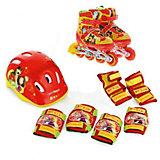 Набор: ролики раздвижные, защита, шлем, Маша и Медведь, р28-31, Next