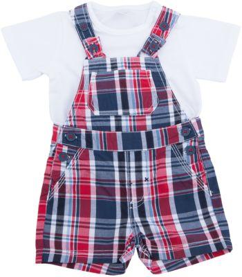 Комплект: футболка и полукомбинезон для мальчика PlayToday - разноцветный