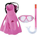 Набор для ныряния SureSwim подростковый, Bestway, розовый
