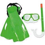 Набор для ныряния SureSwim подростковый, Bestway, зеленый