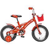 Велосипед Delfi, красно-бордовый, 12 дюймов, Novatrack