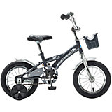 Велосипед Delfi, серо-серебяный, 12 дюймов, Novatrack