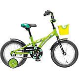 Велосипед Delfi, салатово-черный, 14 дюймов, Novatrack