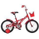 Велосипед Delfi, красно-бордовый, 14 дюймов, Novatrack