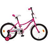 Велосипед NEPTUNE, розовый, 18 дюймов, Novatrack