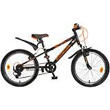 Велосипед Extreme, черно-оранжевый, 20 дюймов, Novatrack