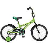 Велосипед Delfi, салатово-черный, 16 дюймов, Novatrack