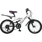 Велосипед DART, белый, 16 дюймов, Novatrack