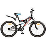 Велосипед SHARK, черный, 20 дюймов, Novatrack