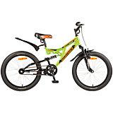 Велосипед SHARK, зелёный, 20 дюймов, Novatrack