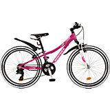 Велосипед  KATRINA, фиолетовый, 24 дюйма, Novatrack