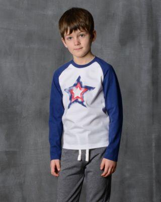 Футболка с длинным рукавом для мальчика Modniy Juk - белый
