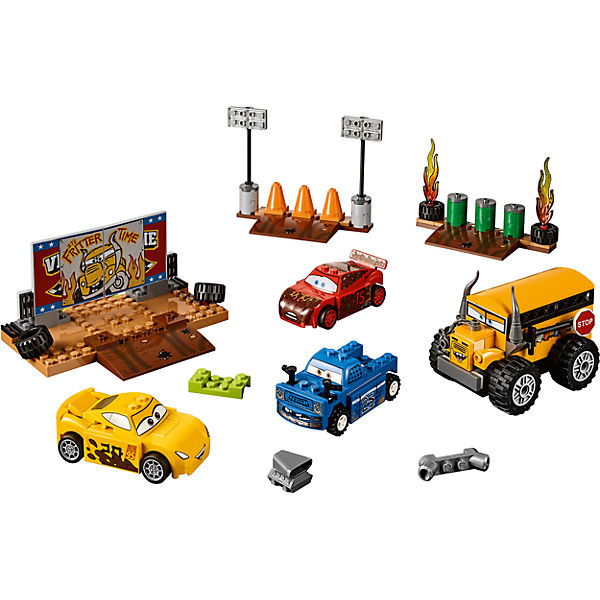 """Конструктор LEGO Juniors 10744 """"Тачки 3"""": Гонка """"Сумасшедшая восьмерка"""""""