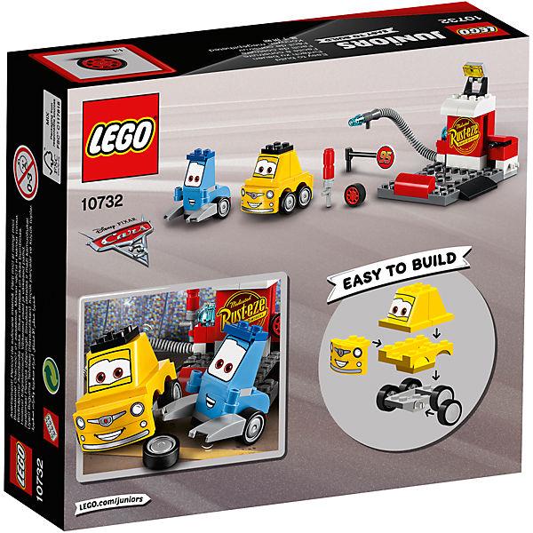 "Конструктор LEGO Juniors 10732: ""Тачки 3"" Пит-стоп Гвидо и Луиджи"