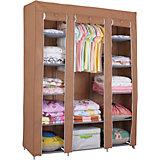 Тканевый шкаф Олимп  коричневый, Homsu
