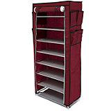 Тканевый шкаф для обуви и аксессуаров Элис, Homsu, бордовый
