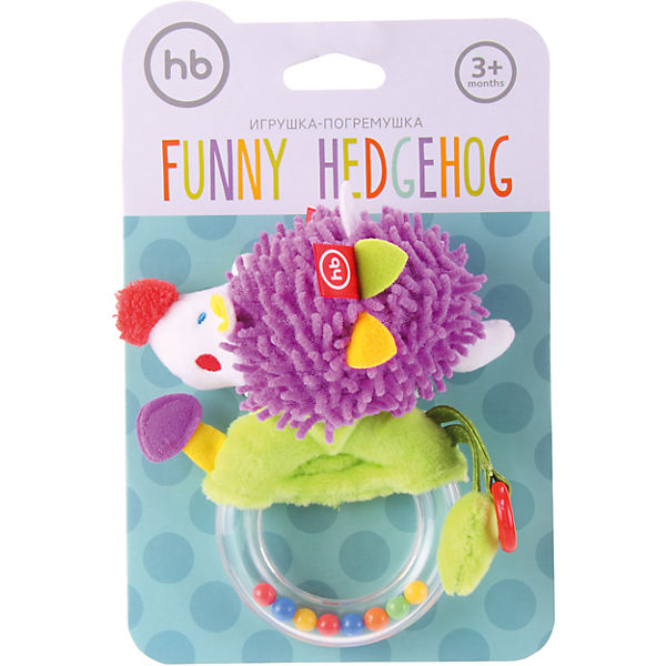 Погремушка-пищалка Funny Hedgehog,  Happy Baby