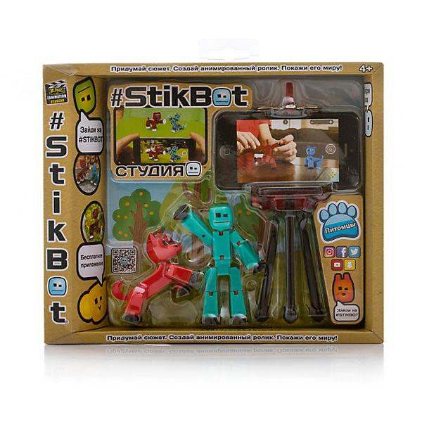 Игрушка-студия с питомцем, Stikbot