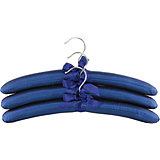 """Вешалки 3 шт. 38*3,2*13,8 см. """"Синие с синим бантиком"""", EL Casa"""