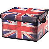 """Кофр складной для хранения 37*31*23 см. """"Британский флаг"""", EL Casa"""