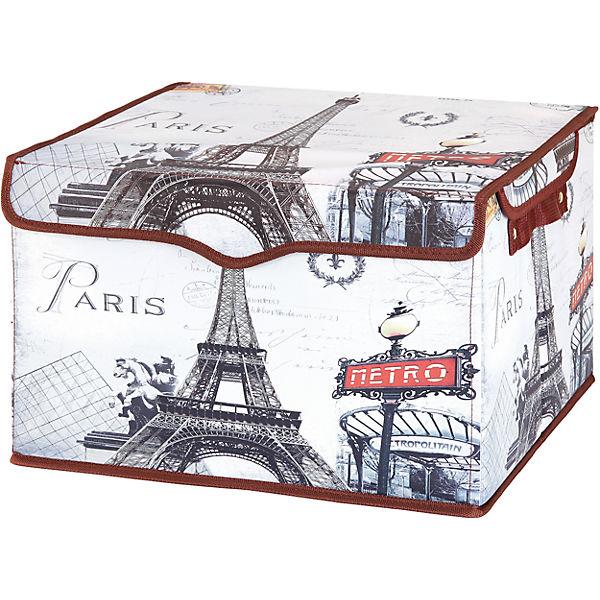 """Кофр складной для хранения 41*36*26 см. """"Париж - Метро"""", EL Casa"""