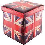 """Пуф складной с ящиком для хранения 35*35*35 см. """"Британский флаг"""", EL Casa"""