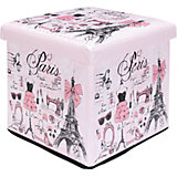"""Пуф складной с ящиком для хранения 35*35*35 см. """"Париж - мода"""", EL Casa"""