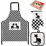 """Набор: фартук, прихватка, рукавичка """"Коты"""", EL Casa"""