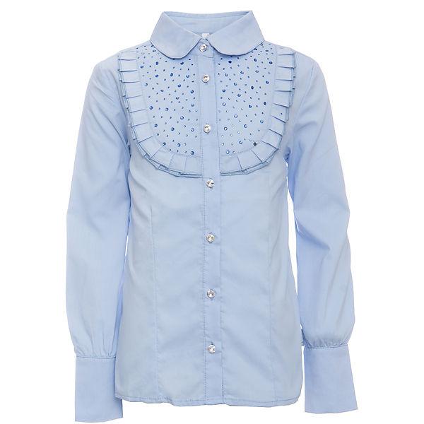 Купить голубые блузки для девочек