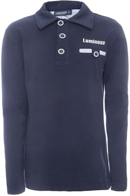 Футболка-поло с длинным рукавом для мальчика Luminoso - синий