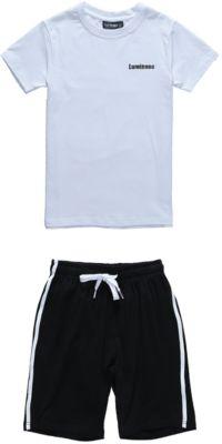 Комплект: футболка и шорты для мальчика Luminoso - белый